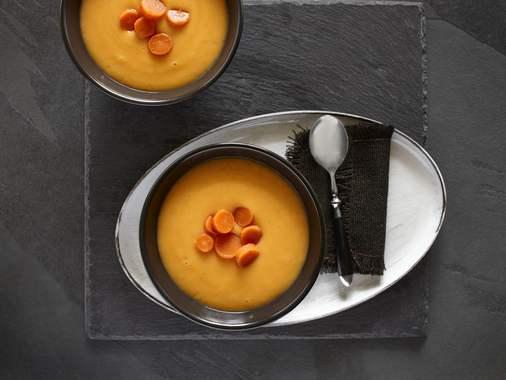 Potage de courge butternut et carottes