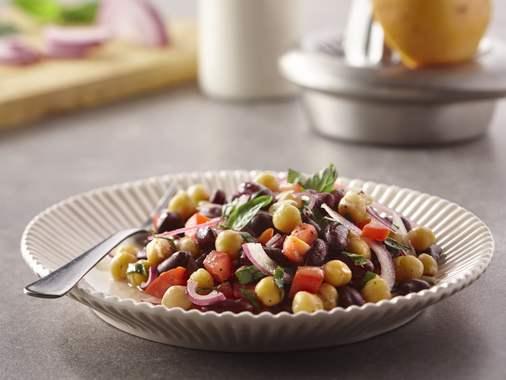 Orange basil legume salad