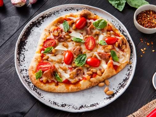 Pizza aux fèves
